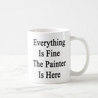 Tout est très bien le peintre est ici mug
