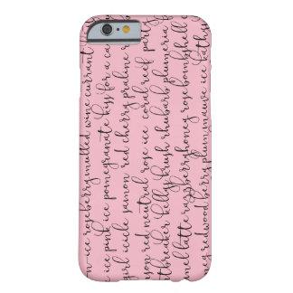Tout le cas de téléphone de rouge à lèvres de coque barely there iPhone 6