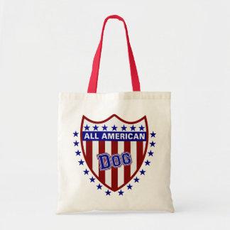Tout le chien patriotique américain sac en toile