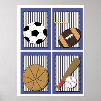 Tout le football du football d'art de mur de garço posters