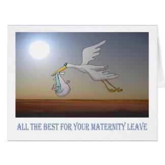tout le meilleur pour les congés de maternité, la cartes