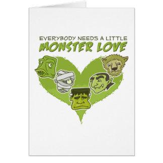 Tout le monde a besoin d'un petit amour de monstre carte de vœux