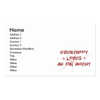 Tout le monde aime un agent du FBI Cartes De Visite Personnelles