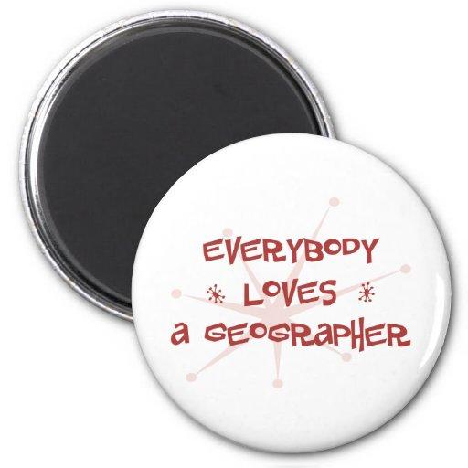Tout le monde aime un géographe aimants pour réfrigérateur