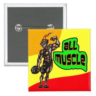 Tout le muscle badge carré 5 cm
