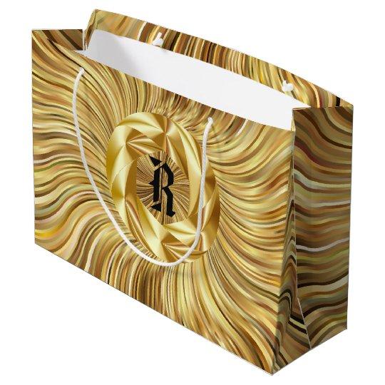 Tout le sac préféré de cadeau de monogramme d'or