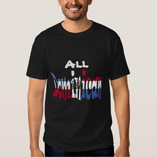 Tout le T-shirt dominicain de drapeau