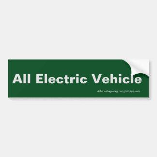 Tout le véhicule électrique - adhésif pour autocollant de voiture