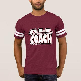 Tout l'entraîneur ; Blanc-Lettres tout T-shirts de
