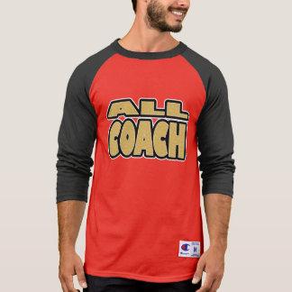 Tout l'entraîneur ; Or-Mots tout T-shirts de style