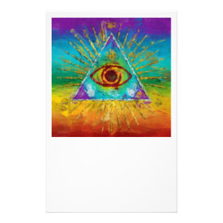 Tout l'oeil voyant de Dieu - art peu précis Prospectus 14 Cm X 21,6 Cm