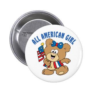 Tout l'ours américain de fille badges