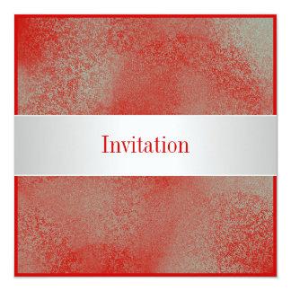 Tout occasionne la poussière blanche argentée carton d'invitation  13,33 cm