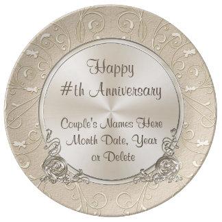 Tout plat d'anniversaire personnalisé par année assiette en porcelaine