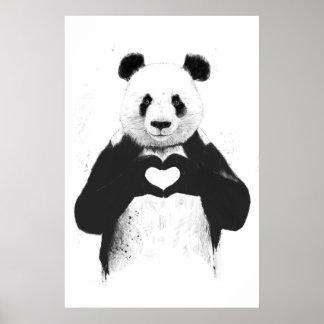 Tout que vous avez besoin est amour affiches