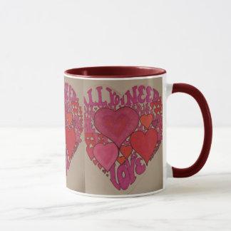 Tout que vous avez besoin est tasse de coeur