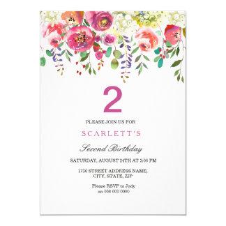 Toute invitation de fête d'anniversaire de filles