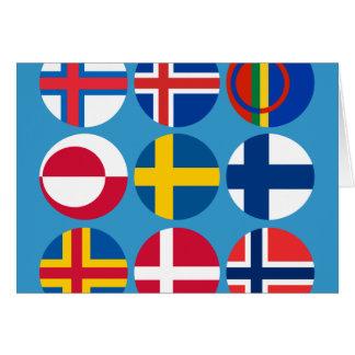 Toute la carte scandinave de drapeaux