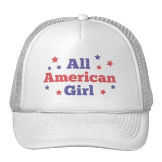Toute la fille américaine casquette