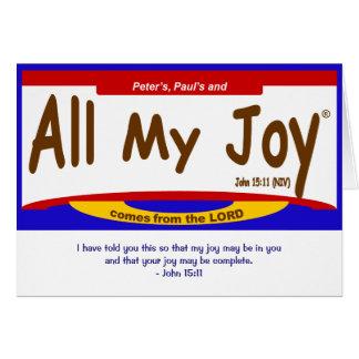 Toute ma carte de seigneur note de joie, enveloppe