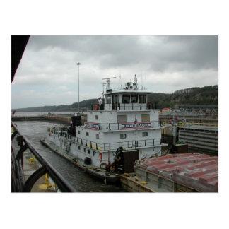 Towboats sur le Mississippi Cartes Postales