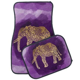traçage tribal de pourpre d'éléphant de feuille tapis de sol
