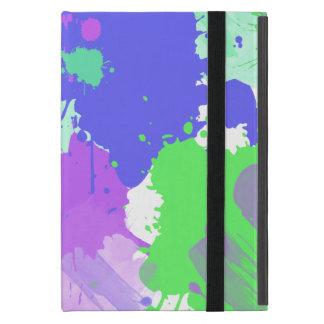 traçages au néon colorés abstraits à la mode étui iPad mini