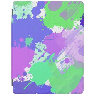 traçages au néon colorés abstraits à la mode protection iPad