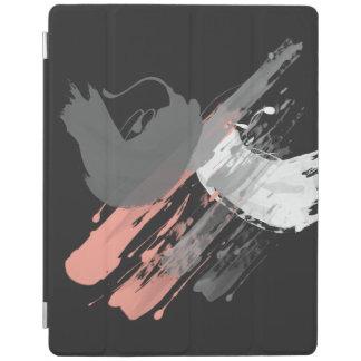 traçages blancs et gris roses de corail élégants protection iPad