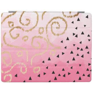 traçages géométriques de rose rose de motif de protection iPad