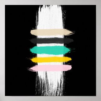 Traçages lumineux modernes de peinture d'aquarelle posters