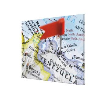 Tracez la goupille placée à Caracas, Venezuela sur Toiles