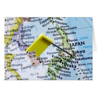 Tracez la goupille placée à Tokyo, Japon sur la Cartes
