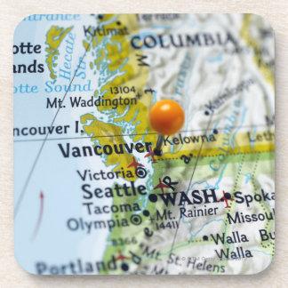 Tracez la goupille placée sur Vancouver, Canada su Sous-bock