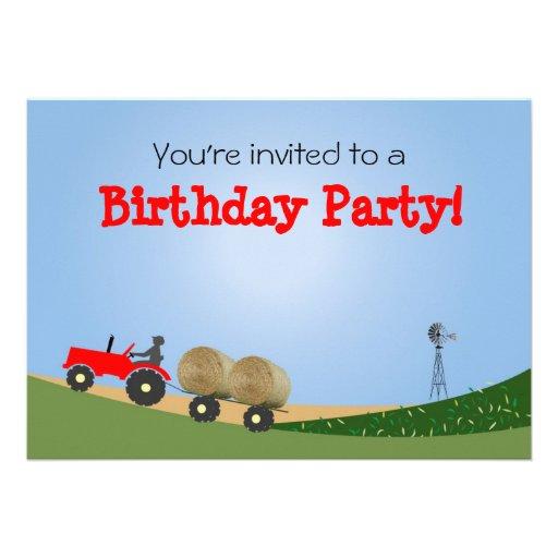 Tracteur à l'invitation de partie de ferme : Tract
