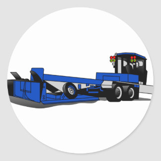 Tracteur agricole sticker rond