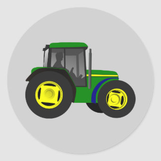 Tracteur Animated Sticker Rond