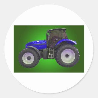 tracteur autocollants ronds