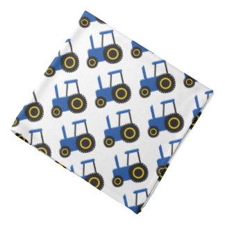 Tracteur bleu bandana