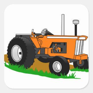 Tracteur classique 1 sticker carré