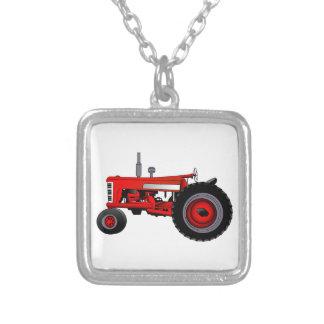 Tracteur classique pendentif carré