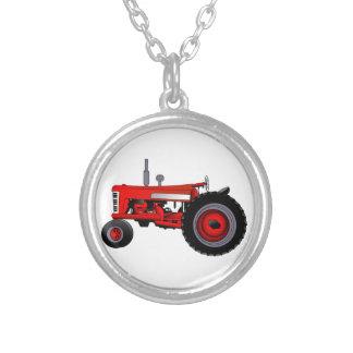 Tracteur classique pendentif rond