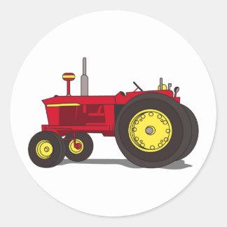 Tracteur classique sticker rond