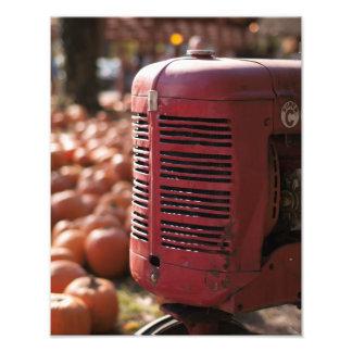 Tracteur dans la correction de citrouille impression photo