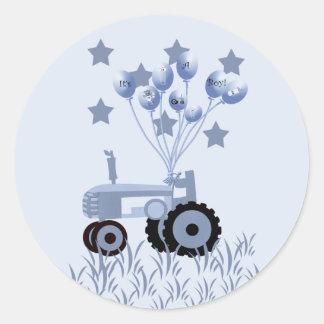 Tracteur de bleus layette avec des autocollants de