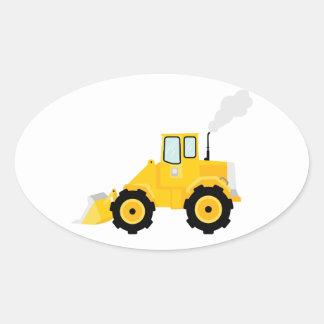Tracteur de chargeur sticker ovale