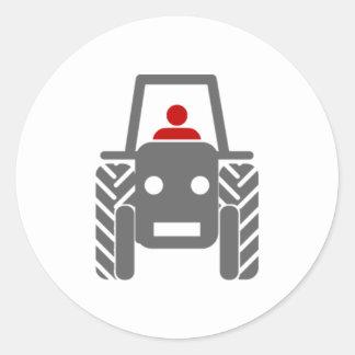 Tracteur de ferme adhésifs ronds