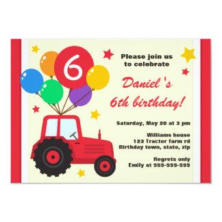 Tracteur de ferme avec la partie d'anniversaire de cartons d'invitation
