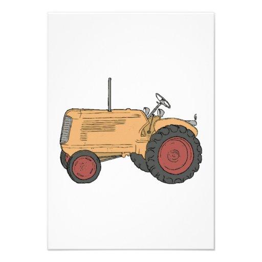 Tracteur de ferme invitations