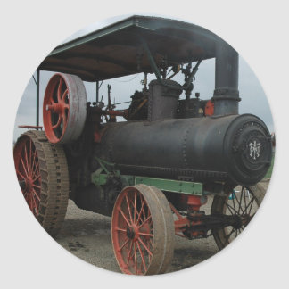Tracteur de hot rod sticker rond